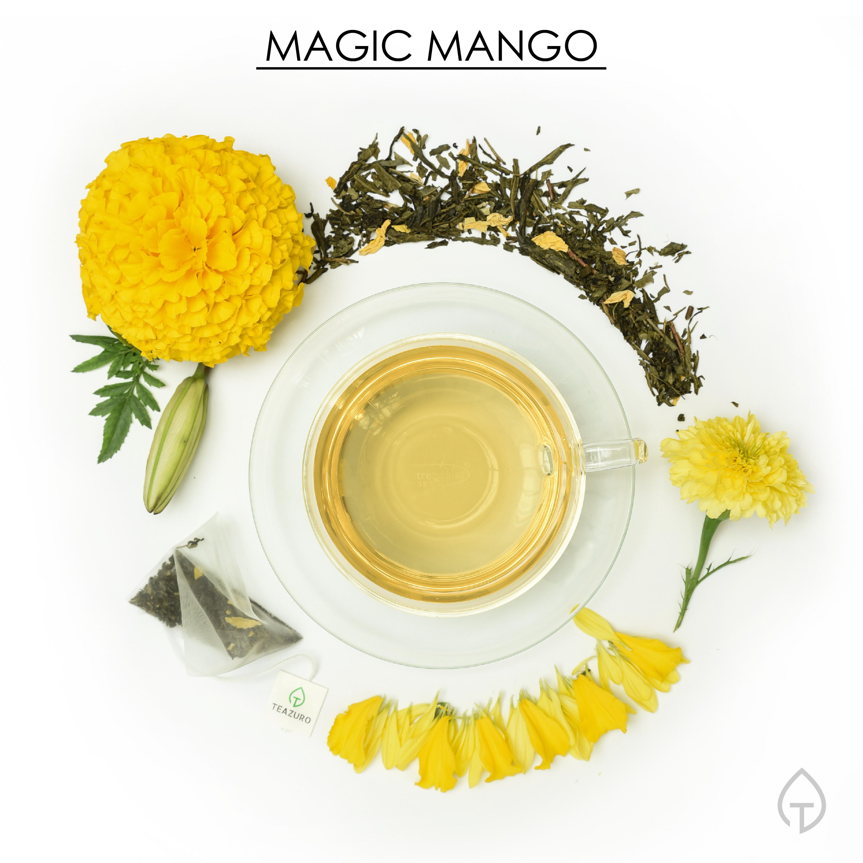 Story:  Our magical blend combines the goodness of green tea and perfectly ripened mangoes. A magical place where the aroma is intoxicating, and every sip ends with joy.  Feel: Joyful and Enchanted…